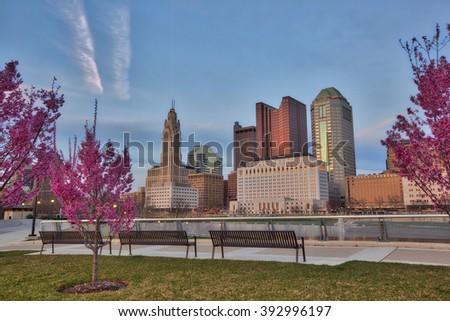 Spring time in Columbus, Ohio - stock photo