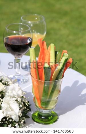 spring vegetable still life - stock photo