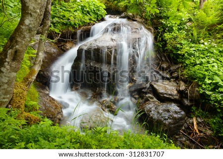 spring water - stock photo