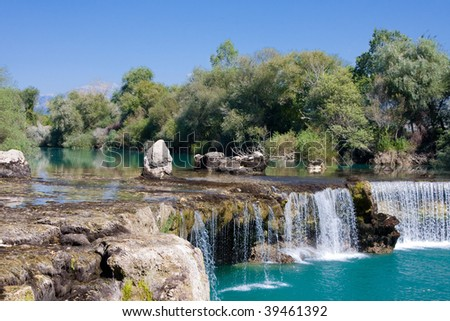 Spring waterfall Manavgat in Turkey - stock photo