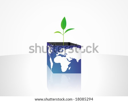 Springing up earth - stock photo