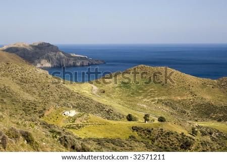 Springtime in Crete. Village of Lendas coast, Crete - Greece - stock photo