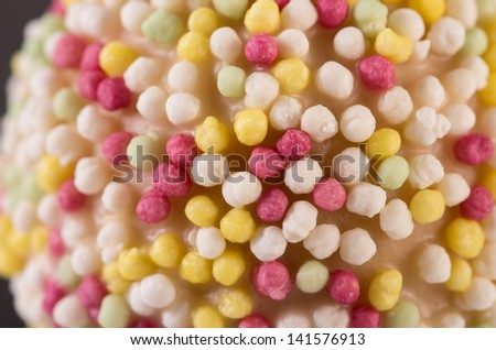 Sprinkles on Cakepop. Background or Texture. - stock photo