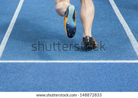 Sprinter starts the race - stock photo
