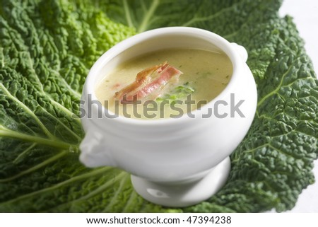 Sprouts soup - stock photo