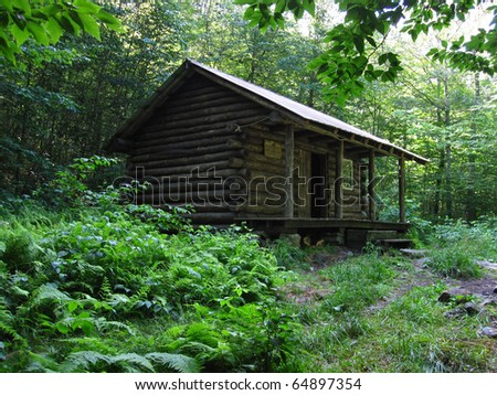 Spruce Peak Shelter - stock photo