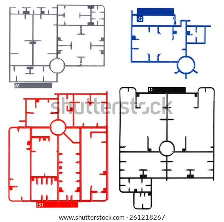 sprue or injection moulding of toy on white background - stock photo