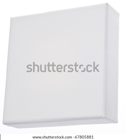 Square Blank Canvas on a Wooden Stretcher - stock photo