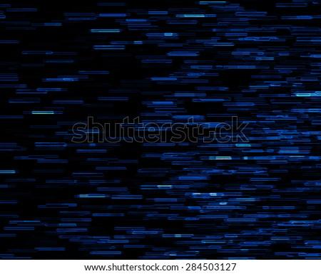 Square blue vivid 8-bit pixel dot interlaced space stars blast teleport abstraction background backdrop - stock photo