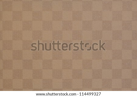 Square  brown grid texture of wallpaper - stock photo