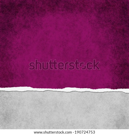 Square Dark Pink Grunge Torn Textured Background with copy space at top and bottom - stock photo