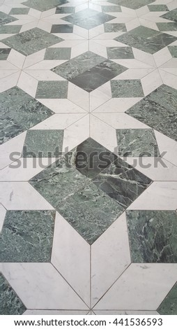 square fllor interior in turin - stock photo
