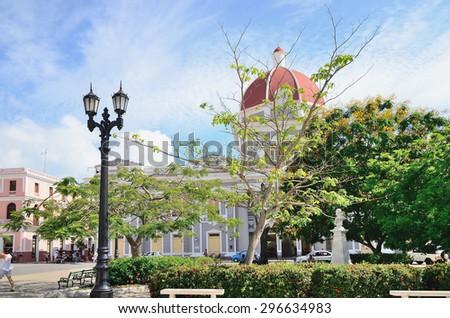 Square in Cienfuegos, Cuba - stock photo