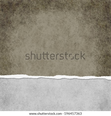 Square Light Brown Grunge Torn Textured Background with copy space at top and bottom - stock photo