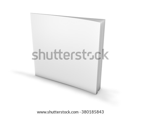 Square paperback, brochure with blank cover, template illustration. - stock photo