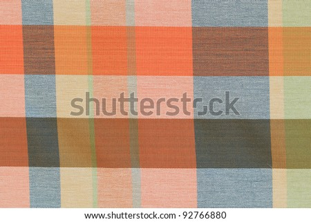 square pattern fabric background - stock photo