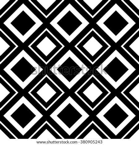 Square pattern. Seamlessly repeatable monochrome background with square shapes. - stock photo