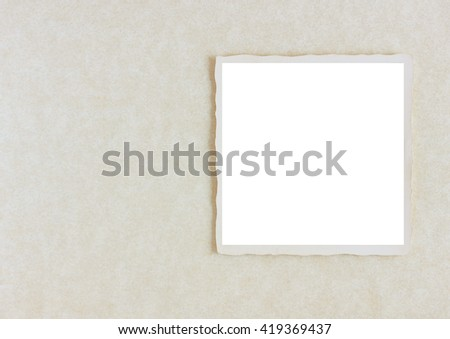 Square photo on gray background ready for your copy - stock photo