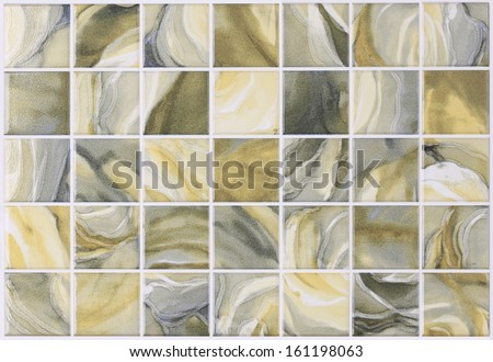 square tiles in marble with colorful effects - stock photo