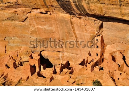 Square Tower House in Mesa Verde National Park, Colorado, USA - stock photo