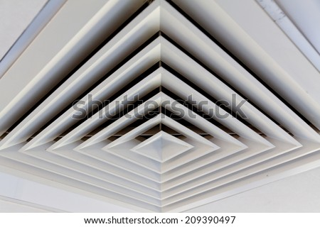 Square vents - stock photo