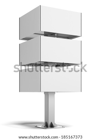 square white banner with sections - stock photo