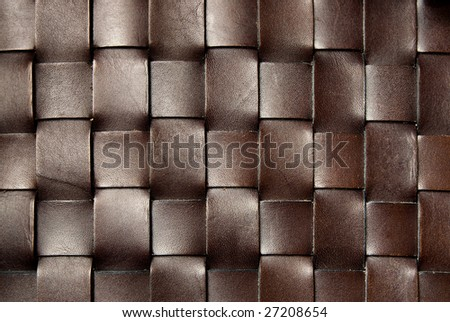 squared dark brown leather texture - stock photo