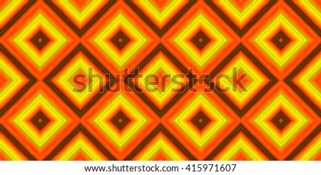 squares of blended stripes of paint in shades of orange, green and yellow form a seamless pattern - stock photo