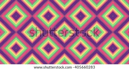 squares of blended stripes of paint in shades of purple, pink, yellow and green form a seamless pattern  (tileable texture) - stock photo