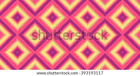 squares of blended stripes of paint in shades of yellow, pink and purple form a seamless pattern - stock photo