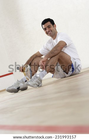 Squash Player - stock photo