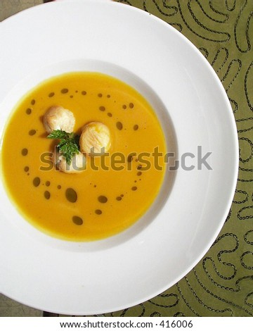 Squash Soup - stock photo