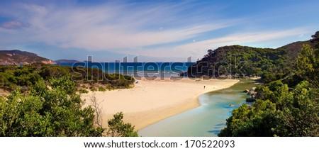 Squeaky Beach, Wilsons Promontory National Park, Victoria, Australia - stock photo