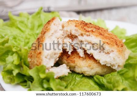 Squid burgers - stock photo