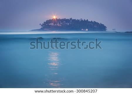 Sri Lanka. Beruwala Light House - stock photo