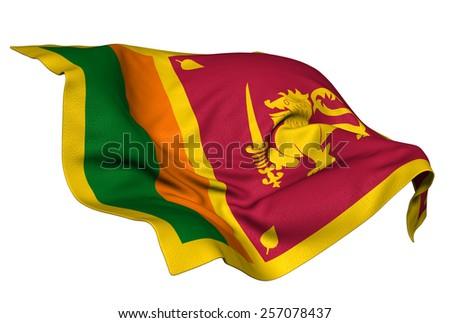 Sri Lanka flag - stock photo