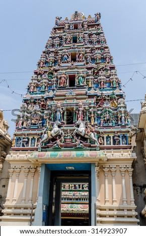 Sri Maha Mariamman Temple in Kuala Lumpur, Malaysia - stock photo