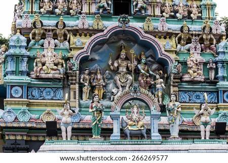Sri Mariamman Temple, Singapore - stock photo
