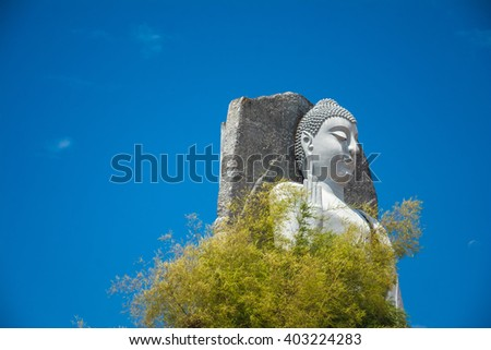 Sri Vishnu devala Buddha statue at Matara, Sri Lanka - stock photo