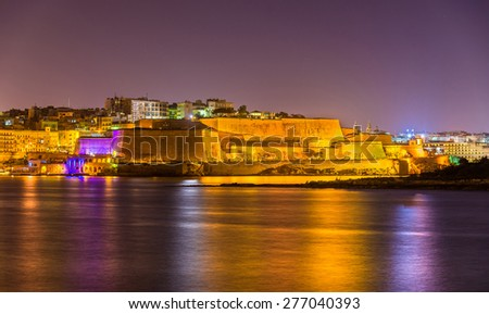 St. Andrew's Bastion in Valletta - Malta - stock photo