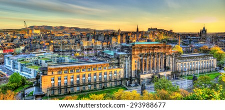 St Andrew's House, a building of the Scottish Government in Edinburgh - stock photo