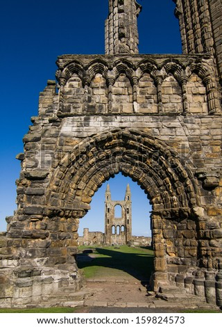 St. Andrews, ruins, Scotland - stock photo