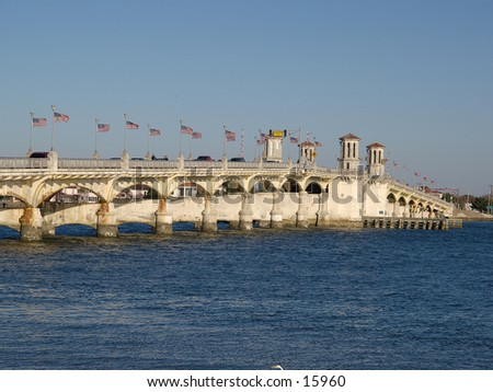 St Auguestine - Bridge - stock photo