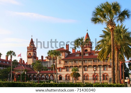 St. Augustine City Hall & Lightner Museum, Florida, USA - stock photo