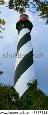 St Augustine Florida Lighthouse - stock photo