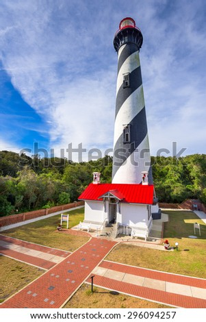 St. Augustine, Florida, USA at the St. Augustine Light. - stock photo