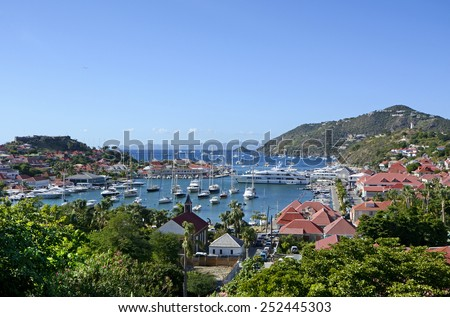 St Barth island, Caribbean sea - stock photo