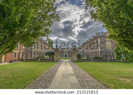 St Catharine's College at Cambridge University, England - stock photo
