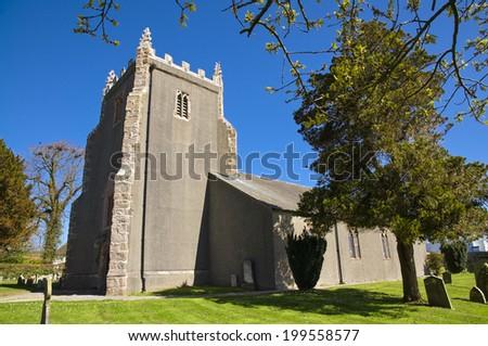 St Cuthberts Church, Aldingham - stock photo