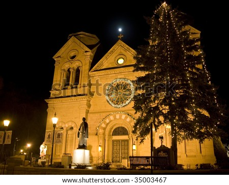 St. Francis Cathedral Santa Fe - stock photo